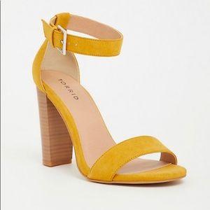 Mustard sandal heels torrid brand new